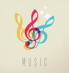 Music concept musical note audio icon color design vector image