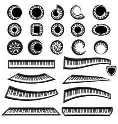 Musical piano keyboards isolated vector