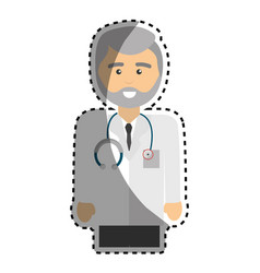 Professional doctor specialist with uniform and vector