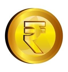 Rupee money gold icon vector