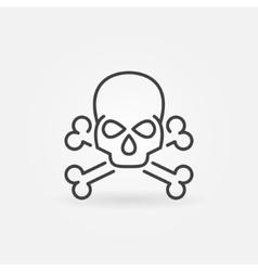 Skull linear icon vector