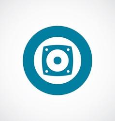 speaker icon bold blue circle border vector image vector image
