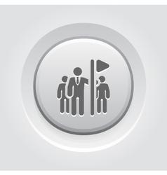 Team leader icon grey button design vector