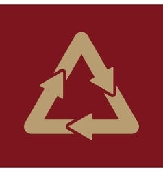 The waste processing icon bio symbol flat vector