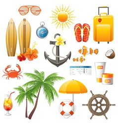 travelling icons great set vector image vector image