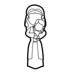 virgin mary and her holy baby religious vector image vector image