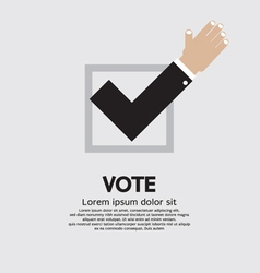 Vote Yes vector image