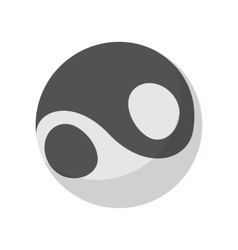 Yin yang icon cartoon style vector