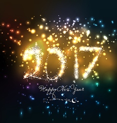 Happy new year 2017 written with Sparkle firework vector image