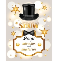 Magic show card miracles and mysteries vector