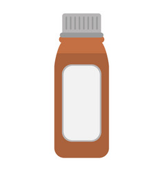 bottle medicine healhy care icon vector image