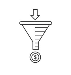 Internet marketing strategy concept sale funnel vector