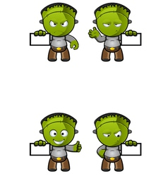 Monster Holding A Card vector image
