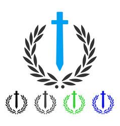 Sword honor embleme flat icon vector