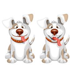 Happy dog vector