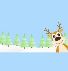 deer in the winter forest vector image