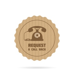 Request a call back icon vector