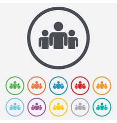 Group of people sign icon share symbol vector