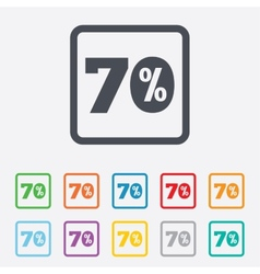 70 percent discount sign icon sale symbol vector
