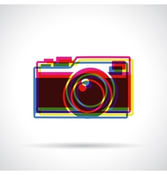 Hipster camera icon vector