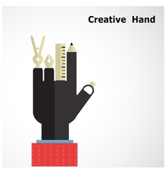 Creative hand logo design templates vector