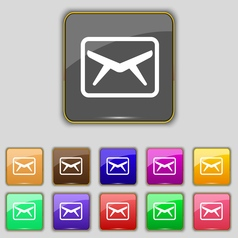 Mail envelope message icon sign set with eleven vector