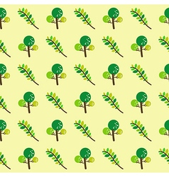 trees and branches seamless pattern vector image