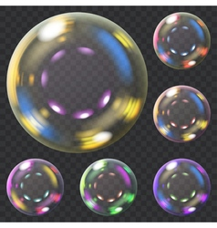 Set of soap bubbles vector image