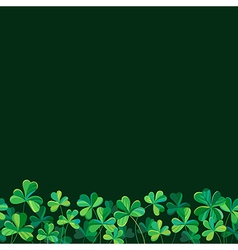 Pattern clover border vector