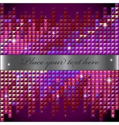 Rhinestone mosaic background vector