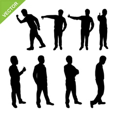 Actions of Business man silhouettes vector image