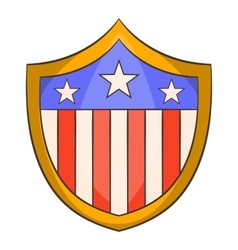 American shield icon cartoon style vector