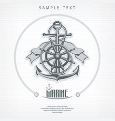 anchor symbol badge round vector image vector image