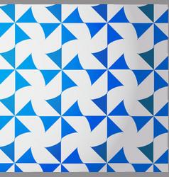 blue-white turbine pattern vector image vector image
