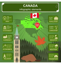 Canada infographics statistical data sights vector image