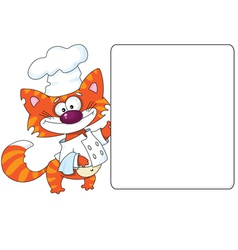 cat the cook and blank vector image vector image