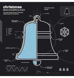 Christmas bell infographic design vector image
