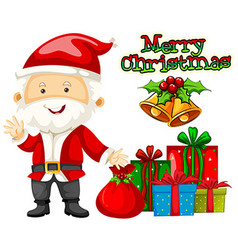 Christmas theme with santa and presents vector