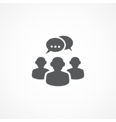 Discussion icon vector image vector image