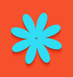 Flower sign whitish icon on vector