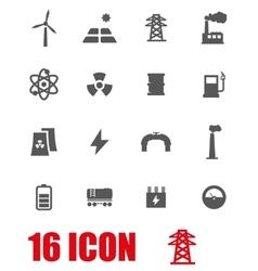Grey energetics icon set vector