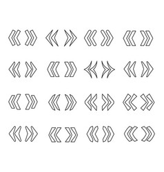 guillemets line icon set vector image vector image