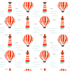 Hand drawn cartoon seamless pattern with vector