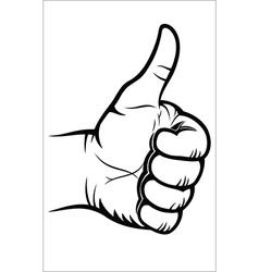 Hand gesture - good vector