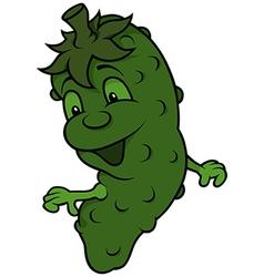 Happy cucumber vector