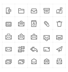 icon set - email and letter vector image vector image
