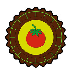 isolated round icon tomato vector image vector image