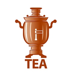 Logo russian samovar for tea vector