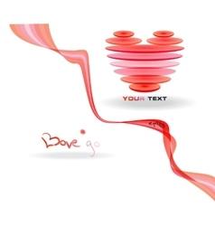 Pink abstract heart simbol vector image