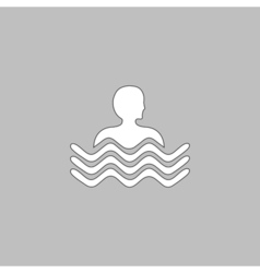 Pool computer symbol vector image vector image